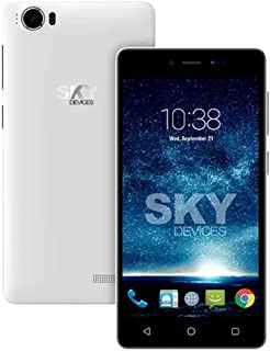 SKY Devices Fuego 5. 0+ - Unlocked Global Smartphone with a 5 Inch Screen and 4GB of ROM 5MP+1. 3MP Cameras - White