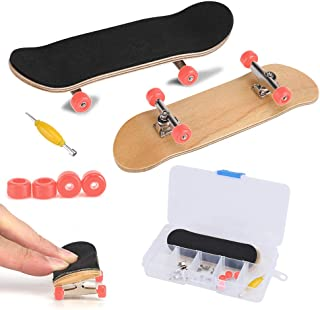 Fingerboard Finger Skateboards, Mini diapasón, Patineta de dedos profesional para Tech Deck Maple Wood DIY Assembly Skate Boarding Toy Juegos de deportes Kids Christmas Gift(Rojo)