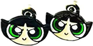 Powerpuff Girls Fashion Novelty Post Earrings Movie Cartoon Series with Gift Box