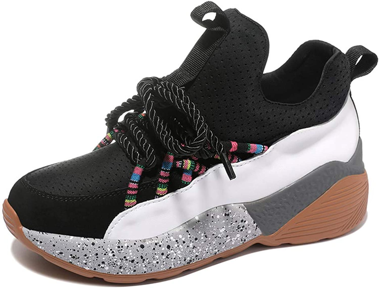 Btrada Women's Fashion Sneakers Walking shoes Sport Workout Gym Jogging Running Wedge shoes Platforms