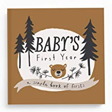 Baby Memory Book Baby Journal and Photo Album Baby Books First Year Memory Book Baby Memory Book of Firsts Little Camper Memory Book