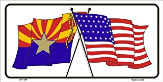 LP-1250 Arizona | BFIfj American USA Crossed Flags Novelty Vanity Metal kbqgdu License Plate Tag Sign licence lisence license plate metal car sign yutio67 ghj90 6