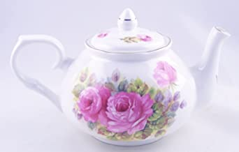 Fine English Bone China Teapot - China Pinks Rose Chintz - Adderley of England