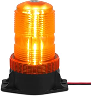 Linkitom 30LEDS Amber/Yellow Emergency Warning Flashing Safety Strobe Beacon Light for Forklift Truck Tractor Golf Carts UTV Car Bus 12-30V