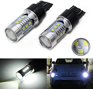 iJDMTOY (2) Xenon White High Power 15-SMD LED Bulbs For 2009-2019 Fiat 500 Daytime Running Lights