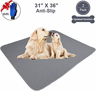 JdPet Washable Pee Pads For Dogs Large | Free Grooming Gloves,Non Slip Reusable Puppy Pad with Great Urine Absorption & Odor Control,100% Leak-Proof Waterproof Pet Mats for Whelping,Travel,Crate,Floor