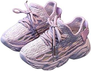 Daclay Baskets tissées Volantes Respirantes, Chaussures en Filet pour Filles, Nouvelles Chaussures décontractées, Chaussur...