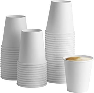 White Paper Hot Cups [100 Pack] Coffee & Tea Cups (10 oz)
