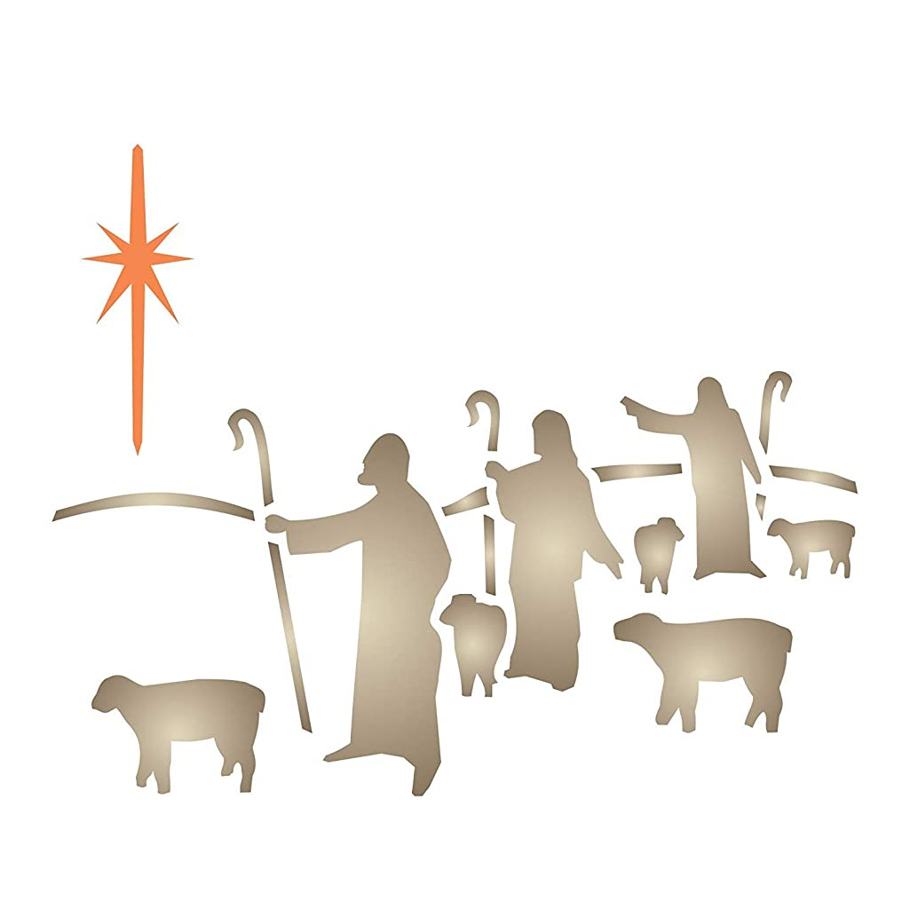 CHRISTMAS SHEPHERDS STENCIL (size: 5
