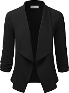 EIMIN Women`s 3/4 Sleeve Blazer Open Front Office Work Cardigan Jacket (S-3XL)