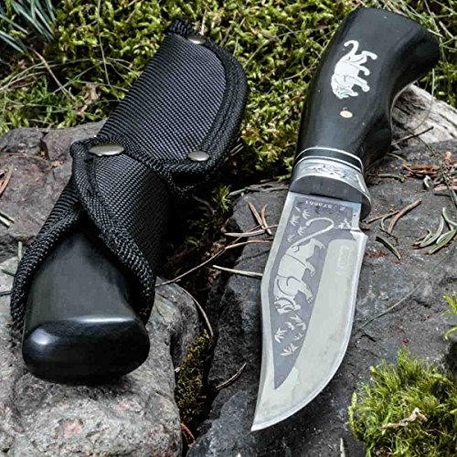KanDar FB-2 • FESTSTEHENDE Messer JAGDMESSER • Gesamtlänge: 260mm • FTM-de.