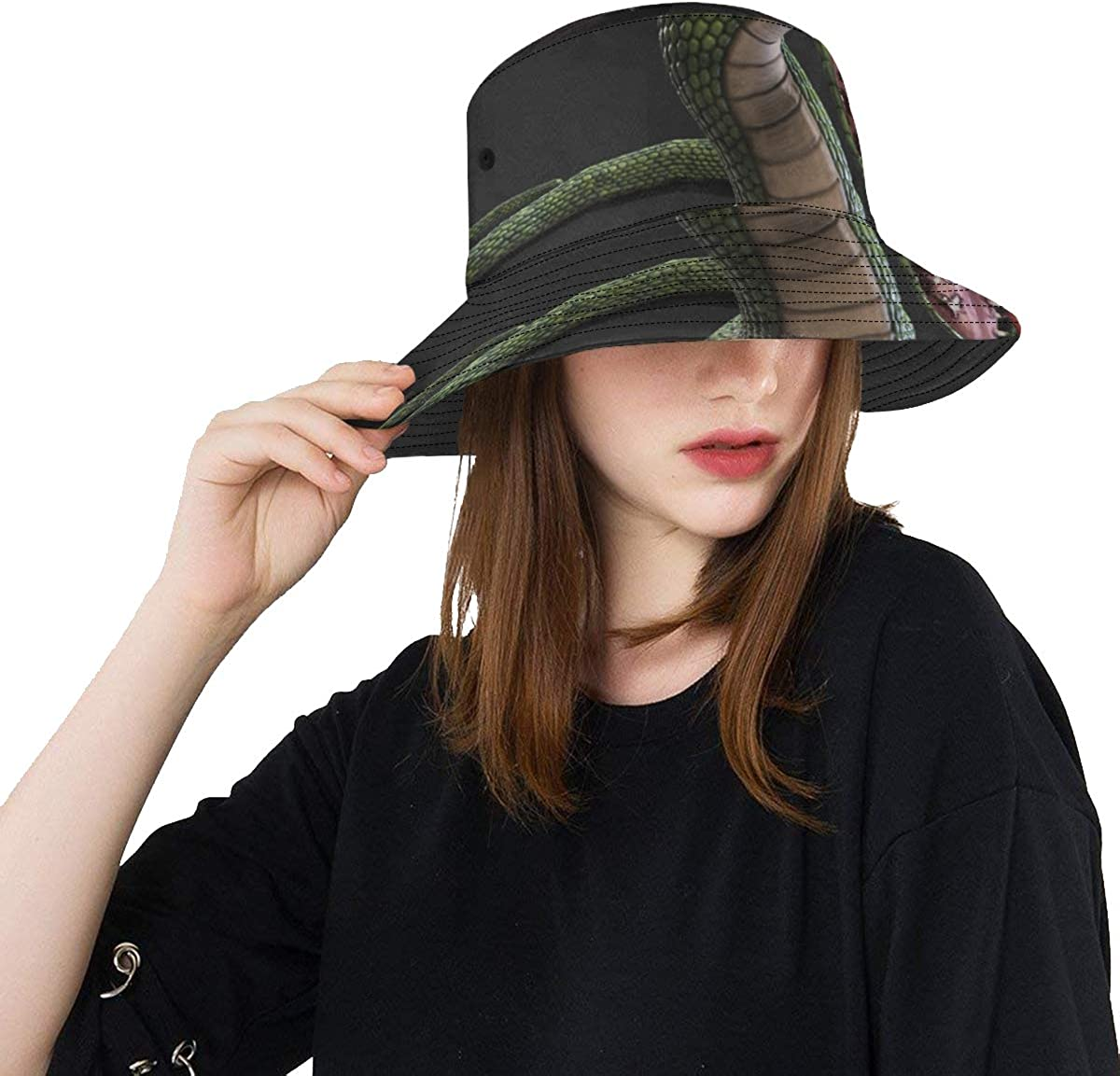Soft Bucket Hat A Fierce Cold-Blooded Snake Unisex Summer Fishin Sales of SALE items from new works Deluxe