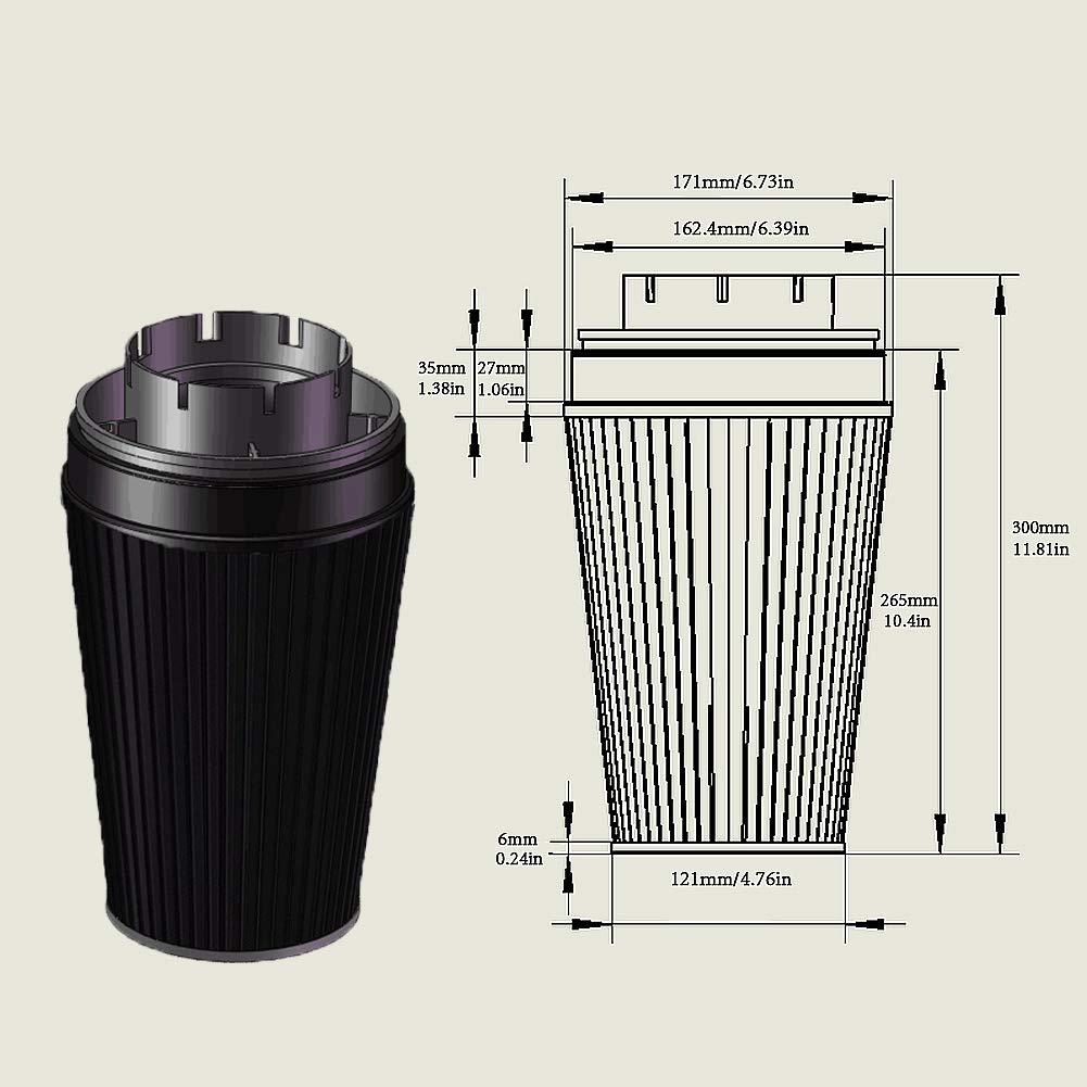"MooSun 4"" Cold Air Intake System + Heat Shield For 99-06 GMC/Chevy V8 4.8L/5.3L/6.0L / Silverado 1500/2500/3500 (Black)"