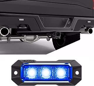 SpeedTech Lights Z-3 9W LED Strobe Light for Police Cars, Construction Trucks, Service Vehicles, Plows, Emergency Vehicles. Surface Mount Grille Flashing Hazard Beacon Light Blue/Blue