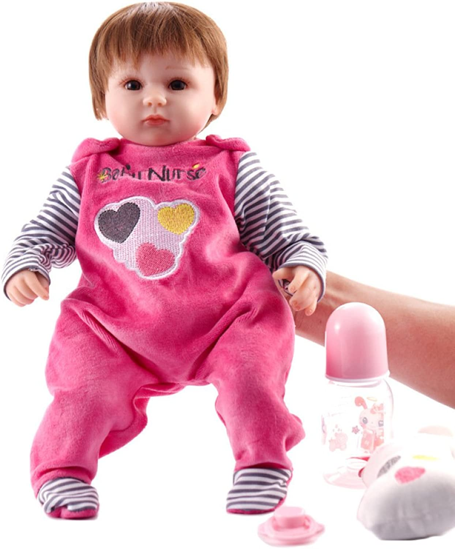 QXMEI Simulation Baby Puppe Wiedergeburt Puppe 45cm Silikon Spielzeug Mdchen,45cm