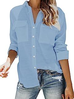 Damesblouse oversized shirts V-hals hemd lange mouwen losse chique lange mouwen zomer tops bovenstuk