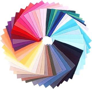 EXCEART 100 Pcs Patchwork Tissu Quilting Tissu Carrés Coton Prédécoupé Couette Couture Carré Patchwork pour Bricolage Scra...