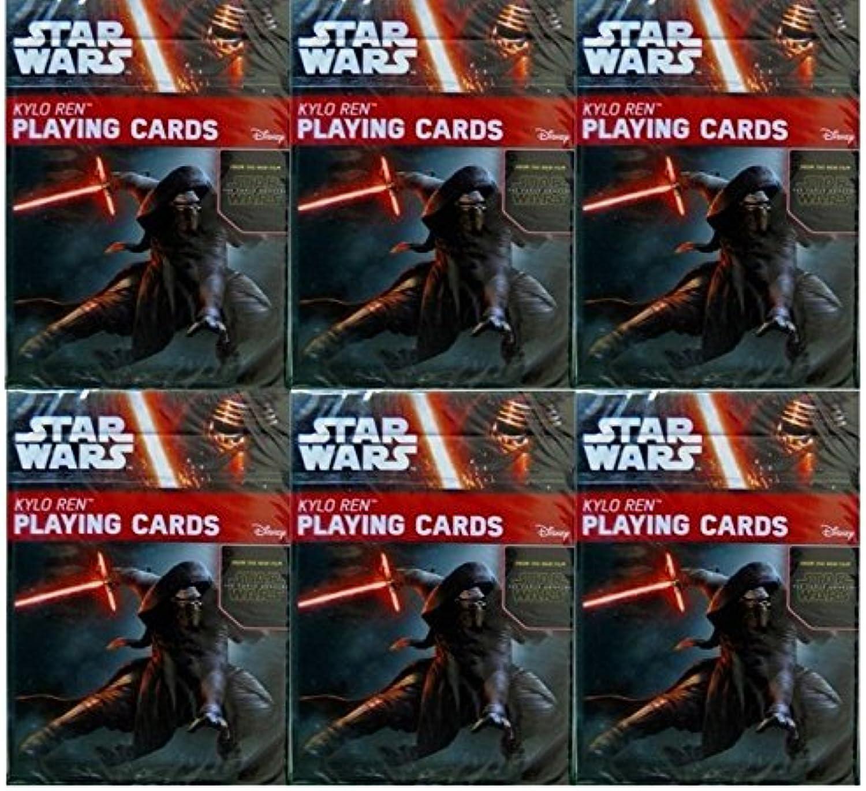 Star Wars  The Force Awakens Kylo Ren Playing Cards 6-Deck Set by Cartamundi