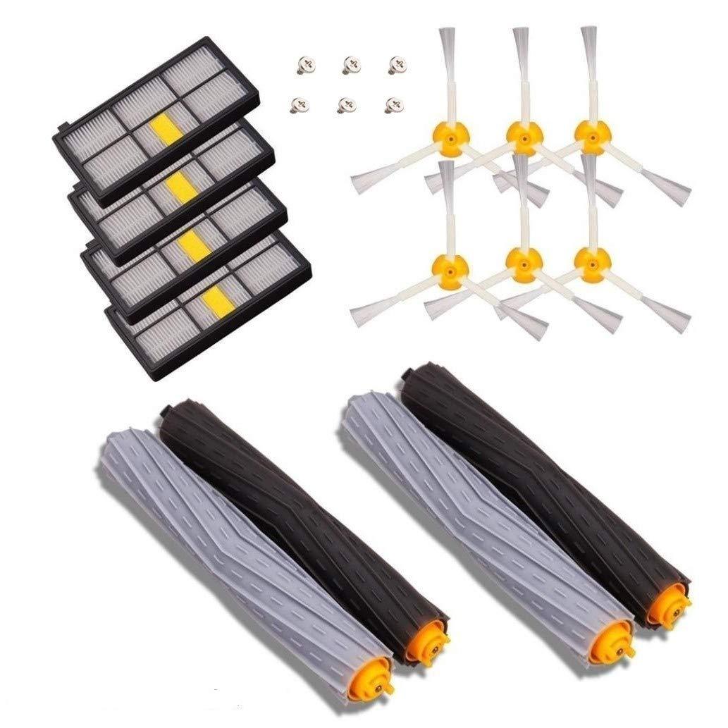 MTKD® Kit de Recambios Compatible con iRobot Roomba Serie 800 y Serie 900 - Kit de 14 Piezas Accesorios (Cepillos Lateral, Filtros, Cepillo de Cerda + 6 tornillos) para Aspirador Robot.: Amazon.es: Hogar