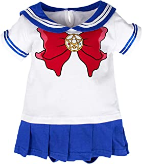 Coolbebe Baby Girls' Sailor Bodysuit Short Sleeve Dress