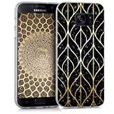 kwmobile Hülle kompatibel mit Samsung Galaxy S7 - Hülle Handy - Handyhülle Glory Mix Granit Gold Schwarz