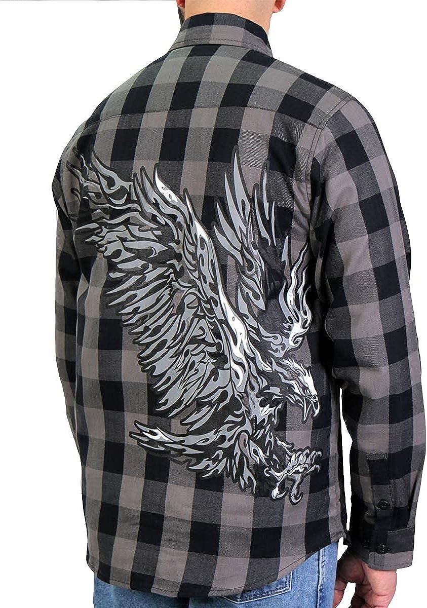 Hot Leathers FLM2102 Men's 'Tribal Eagle' Flannel Long Sleeve Shirt