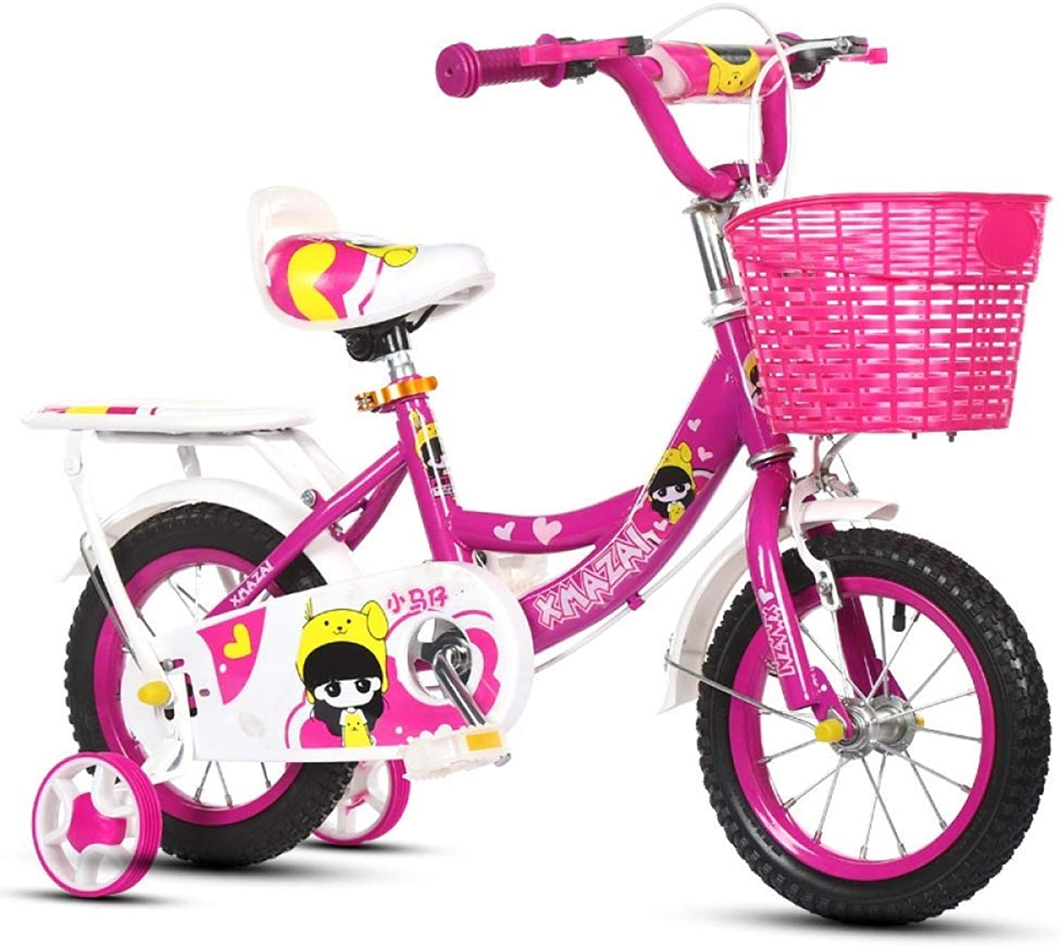 Bicycle, Girl and Boy Bicycle, Toy Car, Stabilizer + Kettle Bike, (color   B, Size   14 Inch)