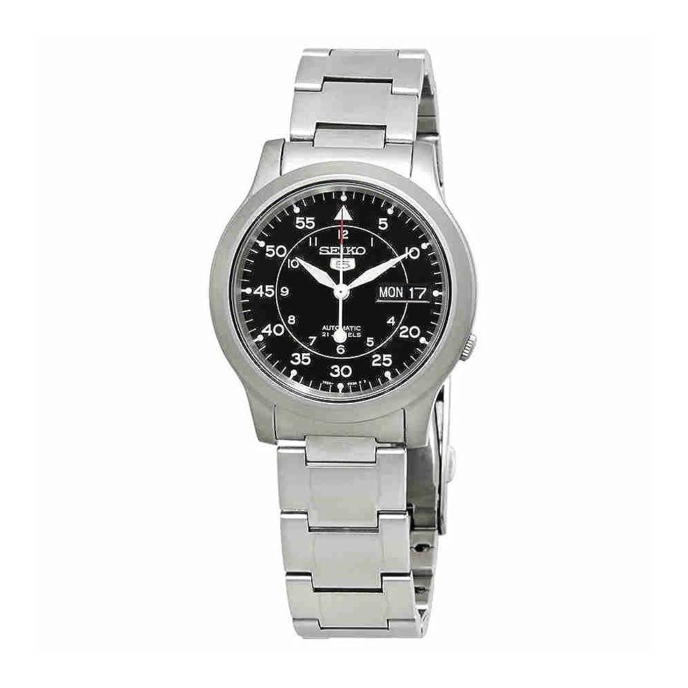 数値十代の若者たち文字通り[セイコーインポート] SEIKO import 腕時計 海外モデル SNK809K1 ブラック メタルベルト メンズ [逆輸入]