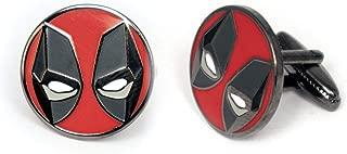 SharedImagination Deadpool Cufflinks, The X-Men Tie Clip, Marvel Minimalist Jewelry, Wolverine Cuff Links Link, Cable Tie Tack Groomsmen Wedding Party Gift
