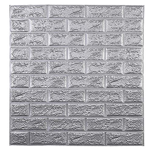 3D Paneling Textured 3D Wall Design, Peel and Stick Foam Brick Self-Adhesive Decorative, for Interior Wall Décor in Living Room,Lobby,Office,Shopping Mall (70cm*77cm*6mm 5pcs,H)