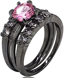 Best black ring with pink stone Reviews