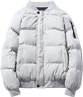 Beautyfine Men's Casual Solid Color Baseball Uniform Jacket Coat