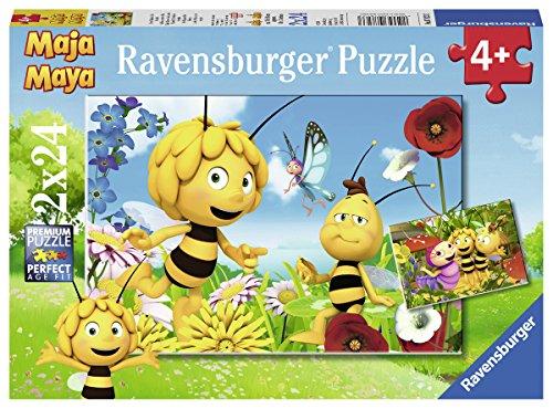 Ravensburger Kinderpuzzle - 07823 Biene Maja und ihre Freunde - Puzzle für Kinder ab 4 Jahren, Biene Maja Puzzle mit 2x24 Teilen