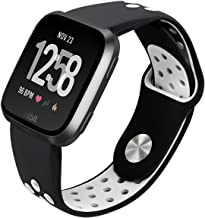 Sport Silicone Replacement Breathable Adjustable Strap Bands Fitb Versa Smart Fitness Watch Women Men Kid