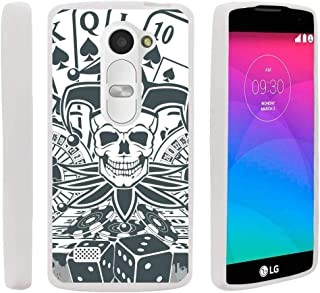 TurtleArmor | Compatible with LG Leon Case | LG Tribute 2 | LG Risio [Flexible Armor] Resistant Slim Fitted Flexible TPU Case Soft Bumper Cover Sports and Games - Joker Skull