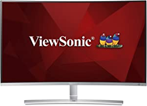 ViewSonic VX3216-SCMH-W 32 Inch 1080p 1800R Curved Monitor with Dual Speakers HDMI DVI and VGA, Silver