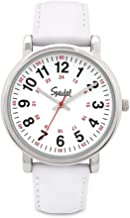 Speidel Medical Scrub Watch - Genuine Leather Band, 24 Hour Markings, Second Hand, Quick Read Face
