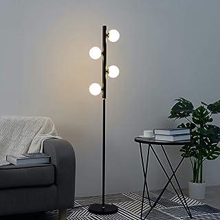 KOSILUM - Lampadaire design blanc et noir - Jacinta - Lumière Blanc Chaud Eclairage Salon Chambre Cuisine Couloir - 4 x ma...