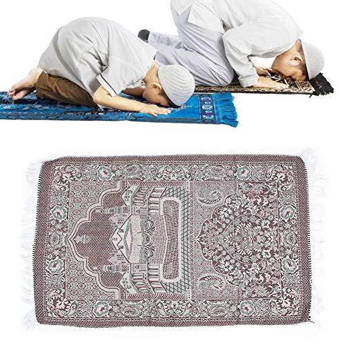Alfombra musulmana plegable de algodón suave para oración musulmana, alfombra de peregrinación islámica para sala de estar, estudio, dormitorio
