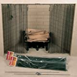 Chimney 61088 48 in. x 30 in. Woodfield Hanging Fireplace Spark Screen- Rod Not Included