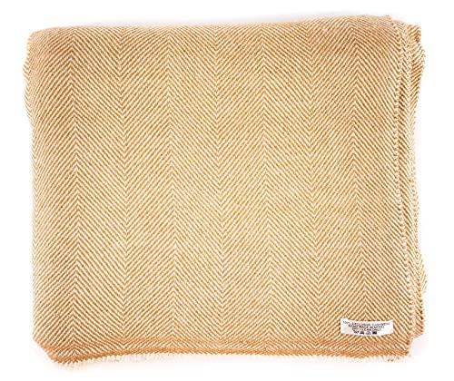 Annapurna Cashmere Luxus Kaschmir Decke aus 100prozent Kaschmirwolle, 125 cm x 250 cm, Handgewebt aus Nepal - Perfekt als Überwurf oder Kuscheldecke für Sofa & Bett (Braun)