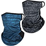 Satior 2 Stück Gesichtsschutz Loop Ohrenschützer Atmungsaktiv Sturmhaube aus Eisseide Schal...