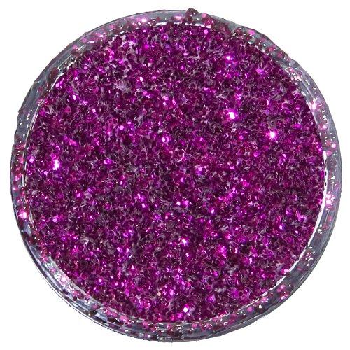 Snazaroo 1113416 Kinderschminke Glitterpuder, holographischer Glitzer zum direkten Auftragen auf der Haut oder zum mischen mit Farben - Fuchsienrosa