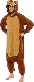 Silver Lilly Unisex Adult Pajamas - Plush One Piece Cosplay Teddy Bear Animal Costume
