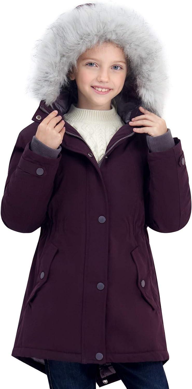 SOLOCOTE Girls Winter Coats Heavyweight Medium Length Warm ...