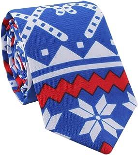 Lovacely Christmas Tie Mens Jacquard Xmas Festival Theme Ties Holiday Party Necktie