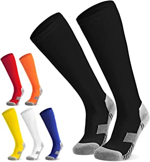 Northdeer, Calcetines de fútbol para niños, jóvenes, Calcetines Altos hasta la Rodilla, Calcetines Deportivos, Calcetines de Entrenamiento, de fútbol, Rugby, Deporte (6 Colores)