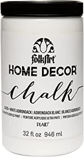 FolkArt 34878 Home Decor Chalk Furniture & Craft Paint in Assorted Colors, 32 ounce, White Adirondack