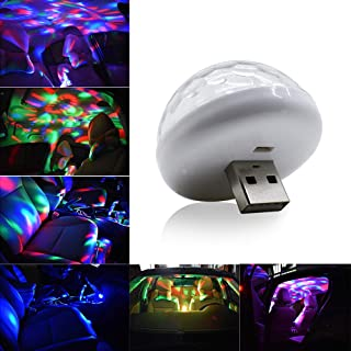 luz de ambiente activa control remoto tiras LED RGB para el chasis del coche YSHtanj Tira de luces LED para coche de 12 V m/úsica