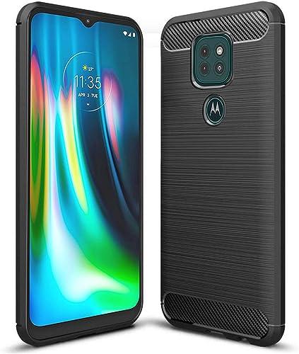 Fashionury Motorola G9 Motorola Moto E7 Plus Rugged Armour TPU Back Cover Case For Motorola G9 Motorola Moto E7 Plus Black